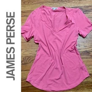 Like New James Perse V-Neck Tee